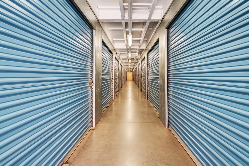 Clean interior hallways at Otay Mesa Self Storage