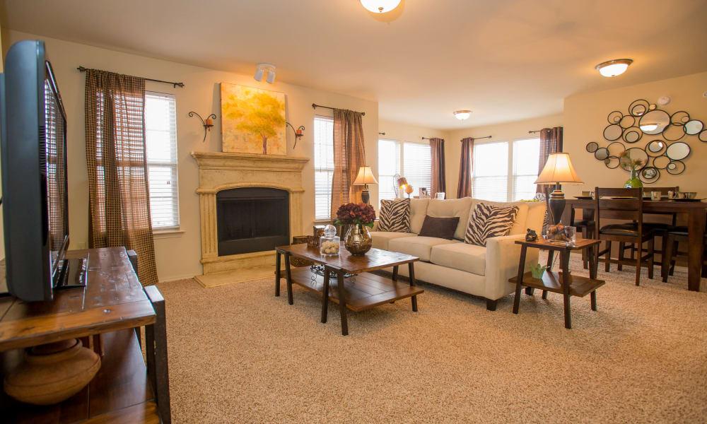 Luxury living room at Park at Tuscany in Oklahoma City, Oklahoma
