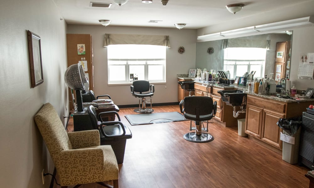 Hair salon at The Legacy at Southpointe Drive in Greenville, South Carolina