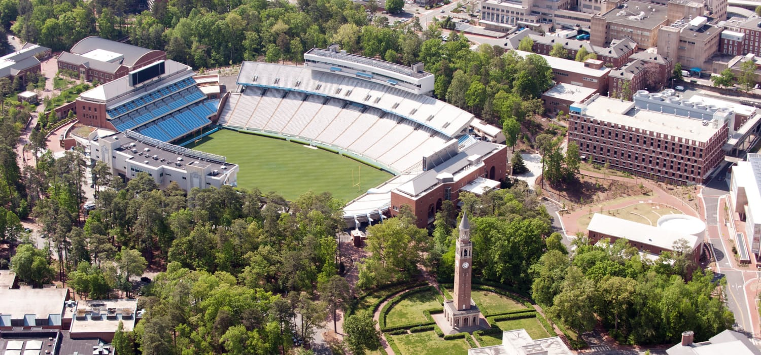 Football stadium in Chapel Hill, NC near Alta Blu