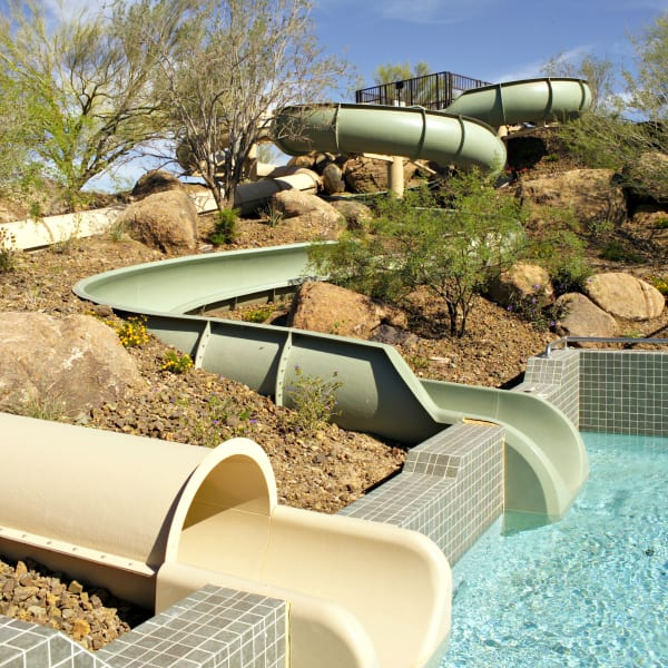 Pool slide at Vistancia in Peoria, Arizona