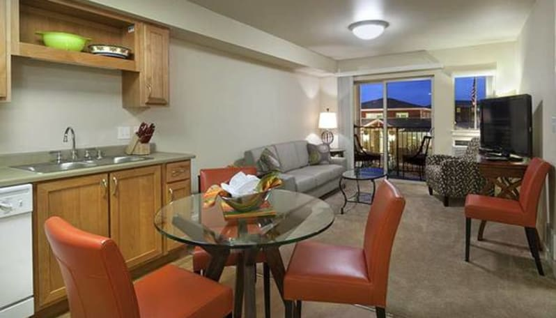 Living room at Affinity at Coeur d'Alene
