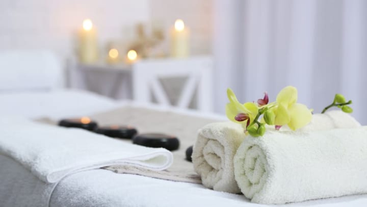 Spa supplies at Escape Day Spa near Anatole on Briarwood in Midland, Texas