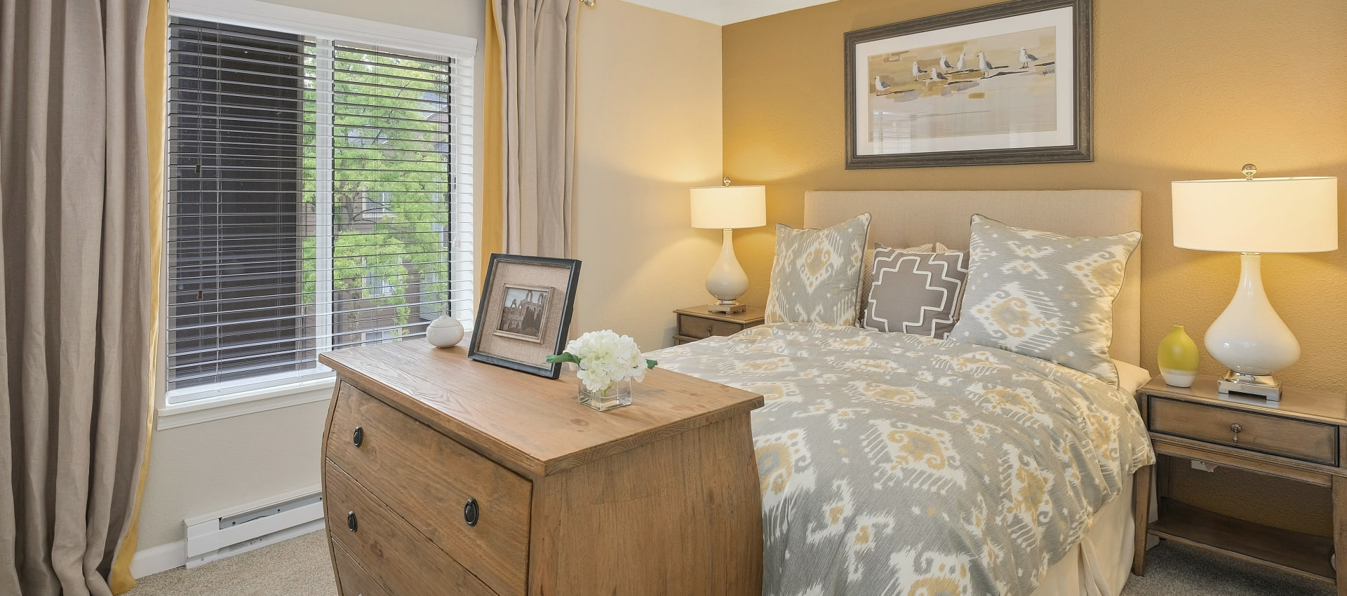 Bedroom at Waterhouse Place in Beaverton, OR