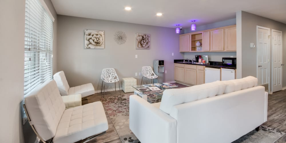 Spacious community living area at Garland Square in Norman, Oklahoma