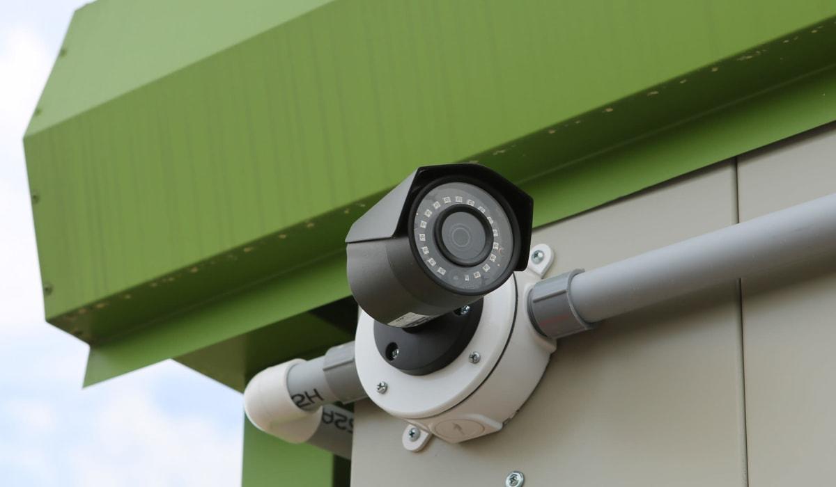 Security camera at Midgard Self Storage in Statesboro, GA