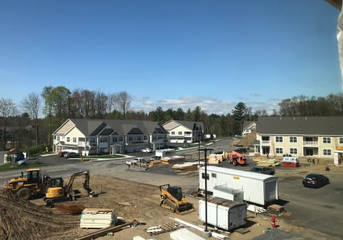 Construction progress at Enclave 50 in Ballston Spa, New York