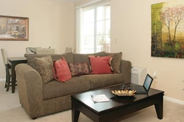 Living room at Las Soleras Senior Living in Santa Fe, NM