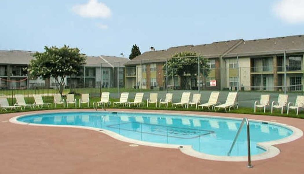 Swimming pool at Auburn Place Apartments in Virginia Beach, VA