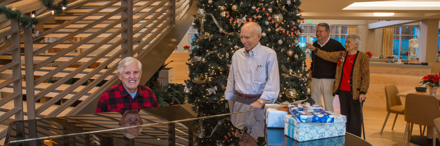 The senior living community at Merrill Gardens has many activities to keep you busy