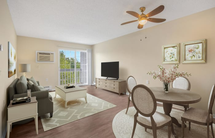 Living room at independent living facility in Canton, MI