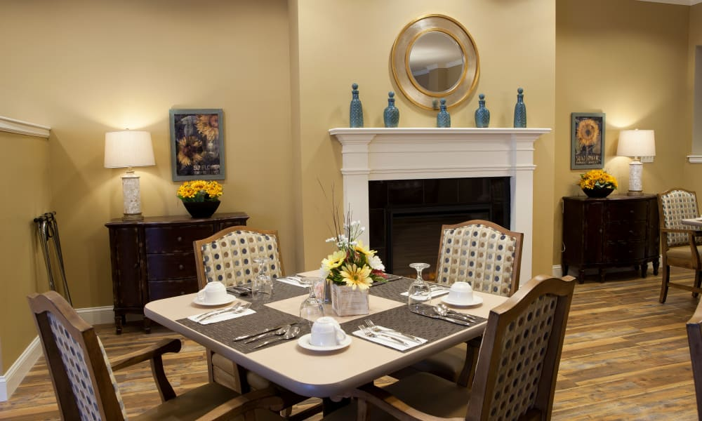 Fireside dining at Keystone Place at  Buzzards Bay in Buzzards Bay, Massachusetts