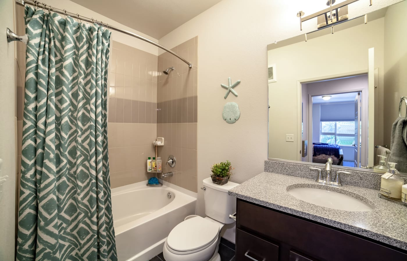 Spacious bathroom at Kapolei Lofts in Kapolei, Hawaii
