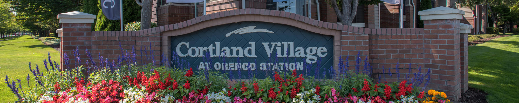 Community map at Cortland Village Apartment Homes in Hillsboro, Oregon