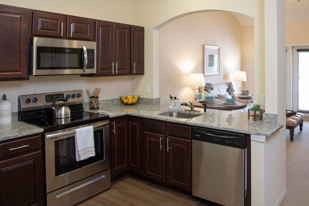 Kitchen at The Harmony Collection at Columbia in Columbia, South Carolina
