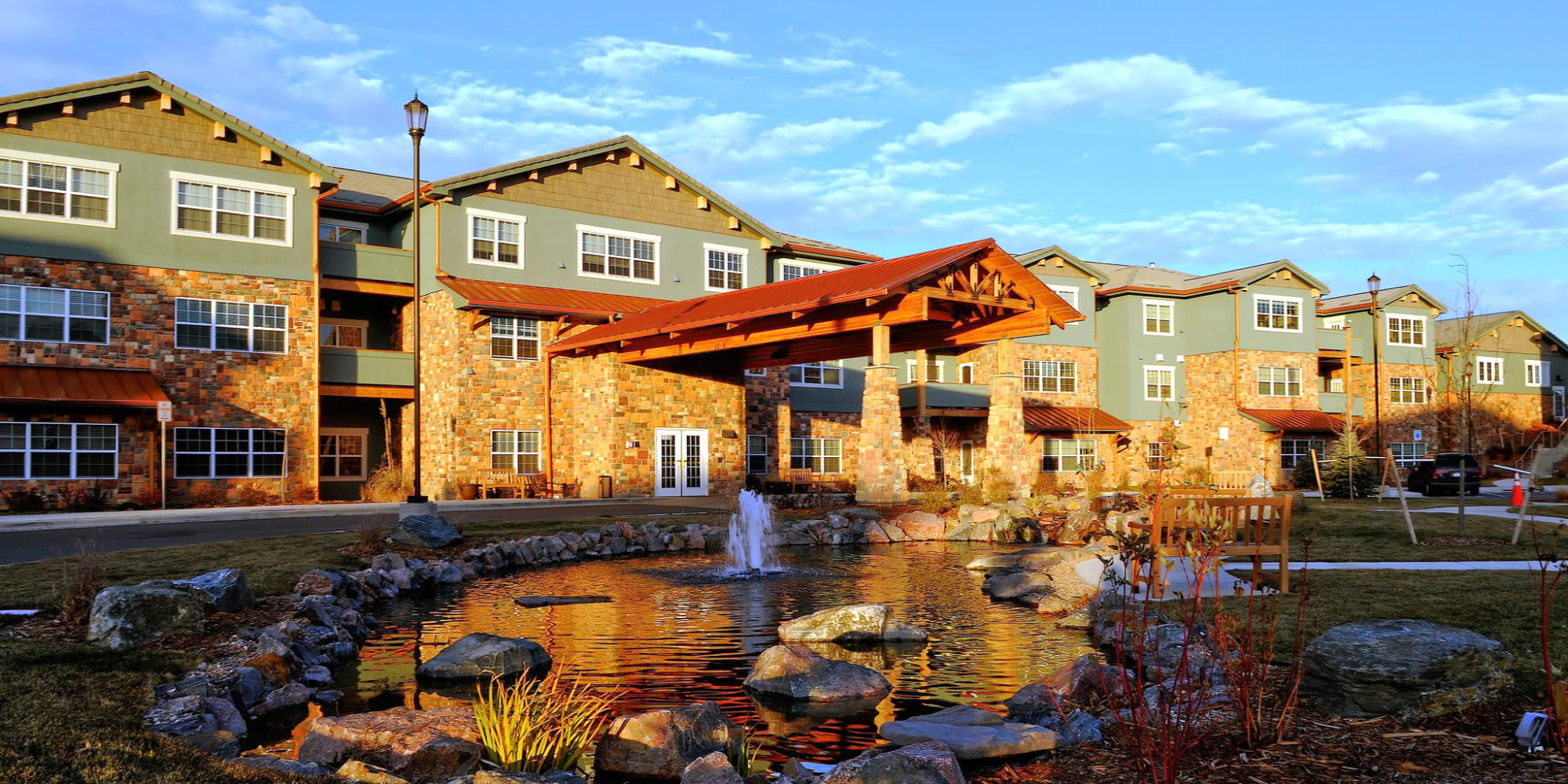 Exterior view of a Keystone community