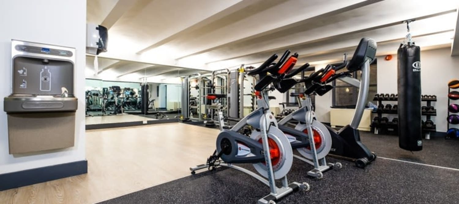 Spacious fitness center at 210-220 E. 22nd Street in New York, New York