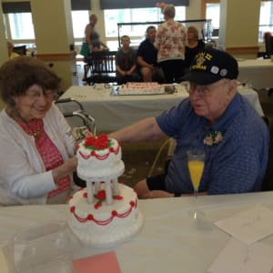 Jo & Roger at their Dare to Dream event at Edencrest at Riverwoods in Des Moines, Iowa