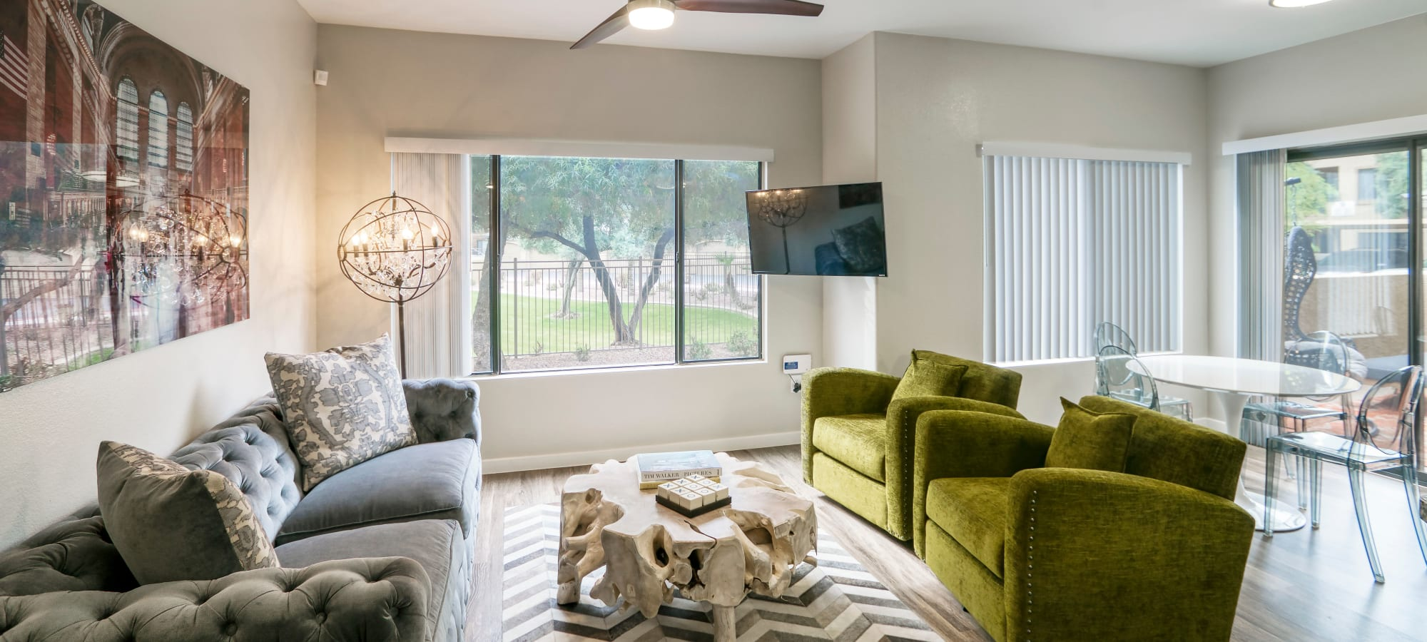 Beautifully decorated living area at Waterside at Ocotillo