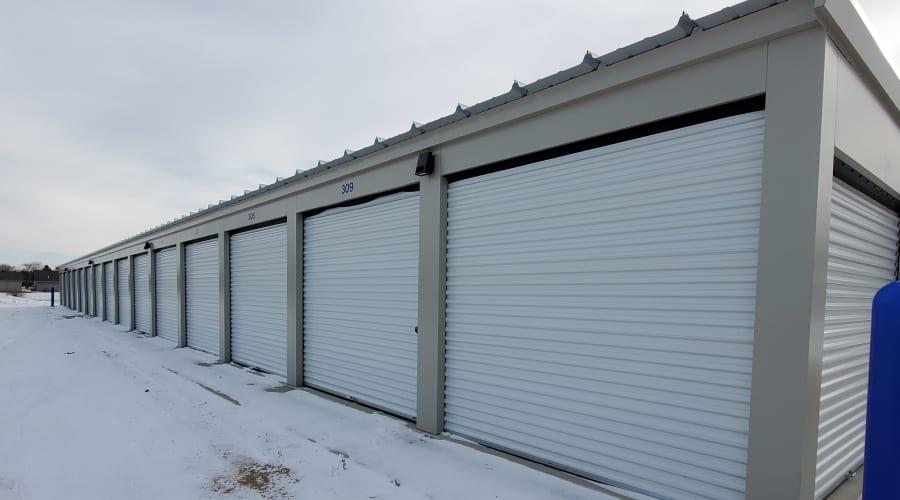 Exterior of outdoor units at KO Storage of Albert Lea in Albert Lea, Minnesota