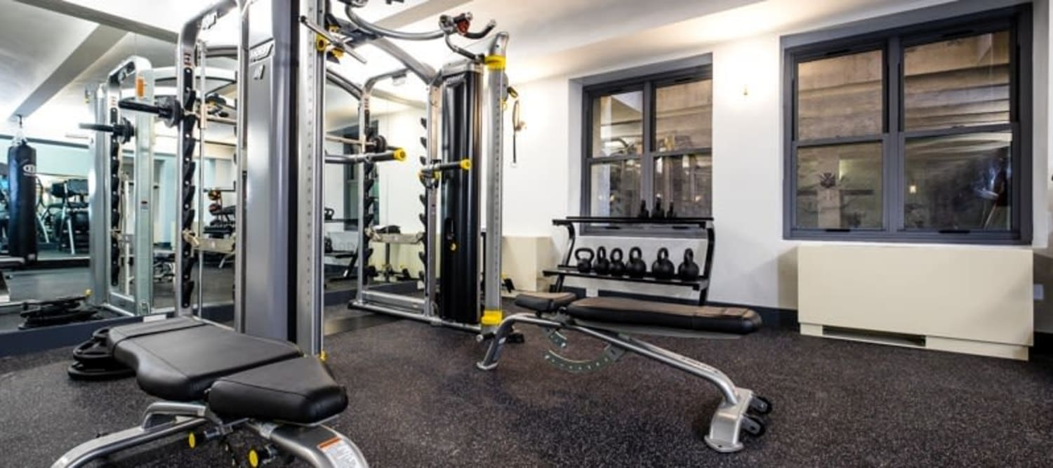 Fitness center with a weight set at 210-220 E. 22nd Street in New York, New York