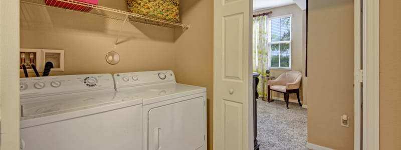 In-unit washer and dryer at City Center on 7th Apartment Homes in Pembroke Pines, Florida