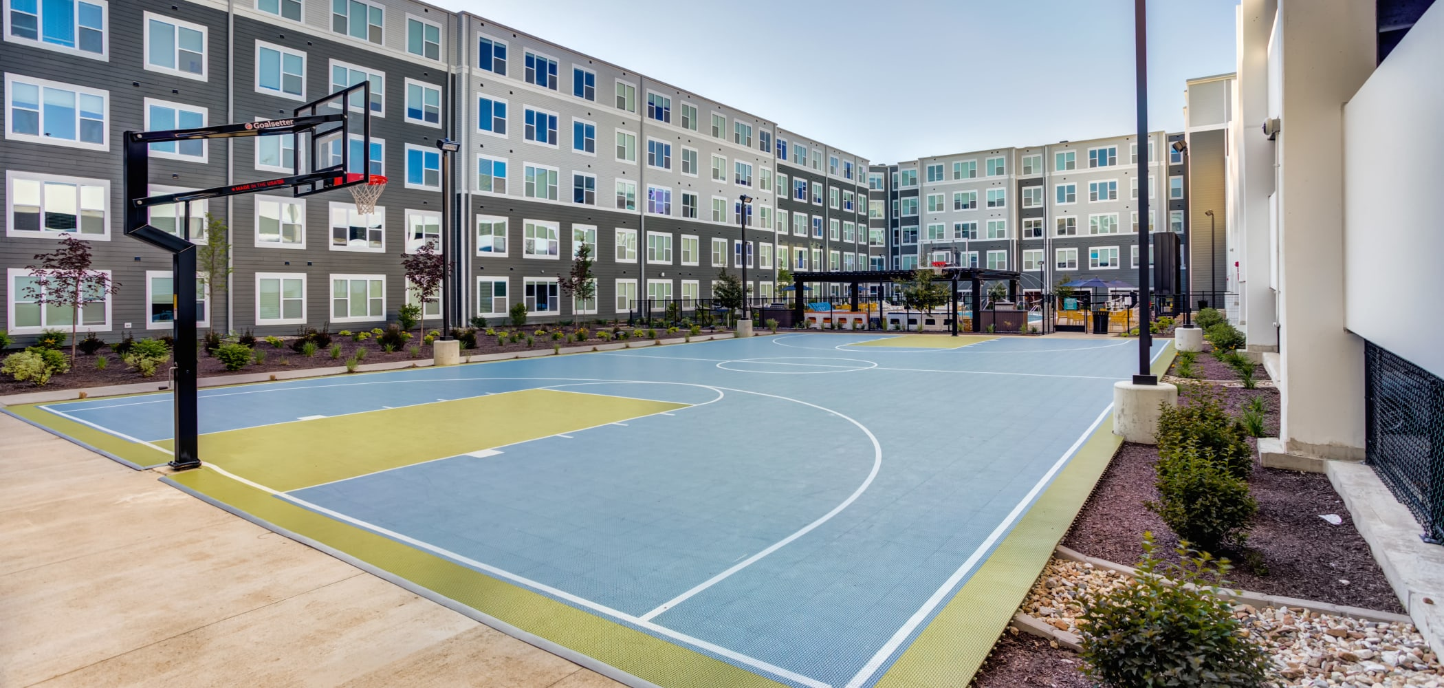 Our Apartments in Coralville, Iowa offer a Basketball Court
