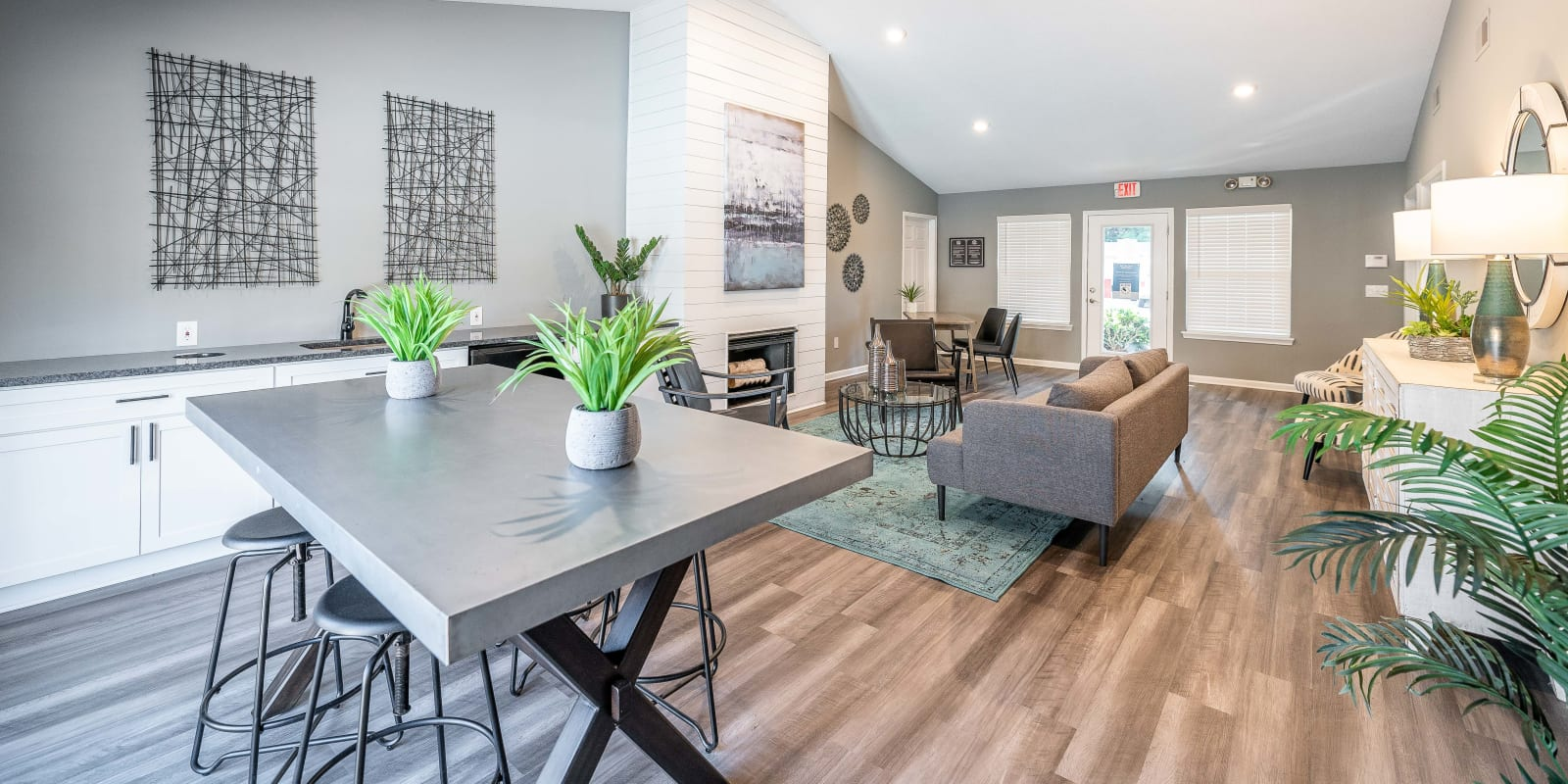 Clubhouse at Parkway Station Apartment Homes in Concord, North Carolina