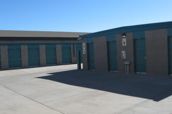 Sample containers at Budget Mini Storage in Prescott Valley, Arizona