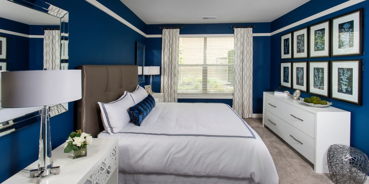 Spacious master bedroom with large window at Greyson on 27 in Nicholasville, Kentucky