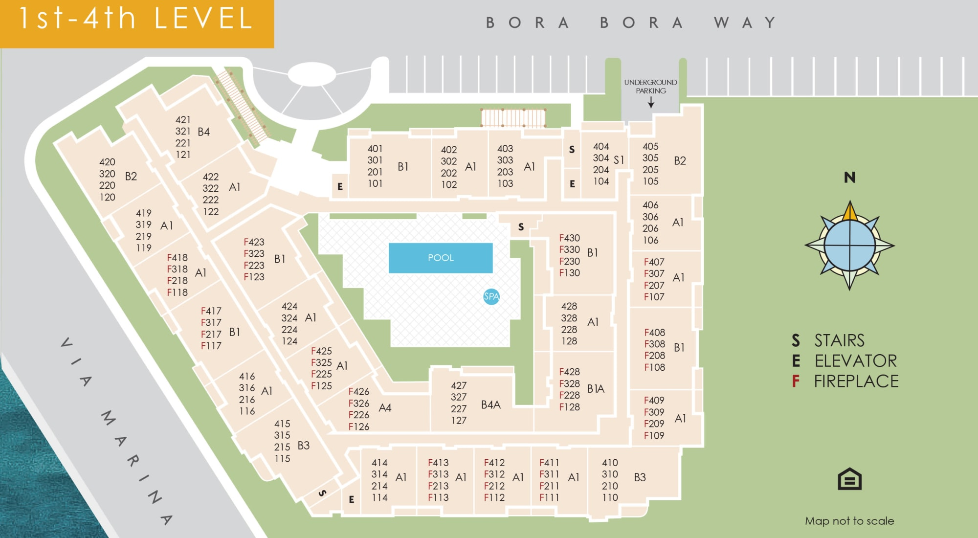 Site plan for The Villa at Marina Harbor in Marina del Rey, California