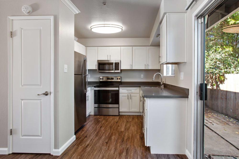 Newly remodeled kitchen at Spring Lake Apartment Homes in Santa Rosa, California