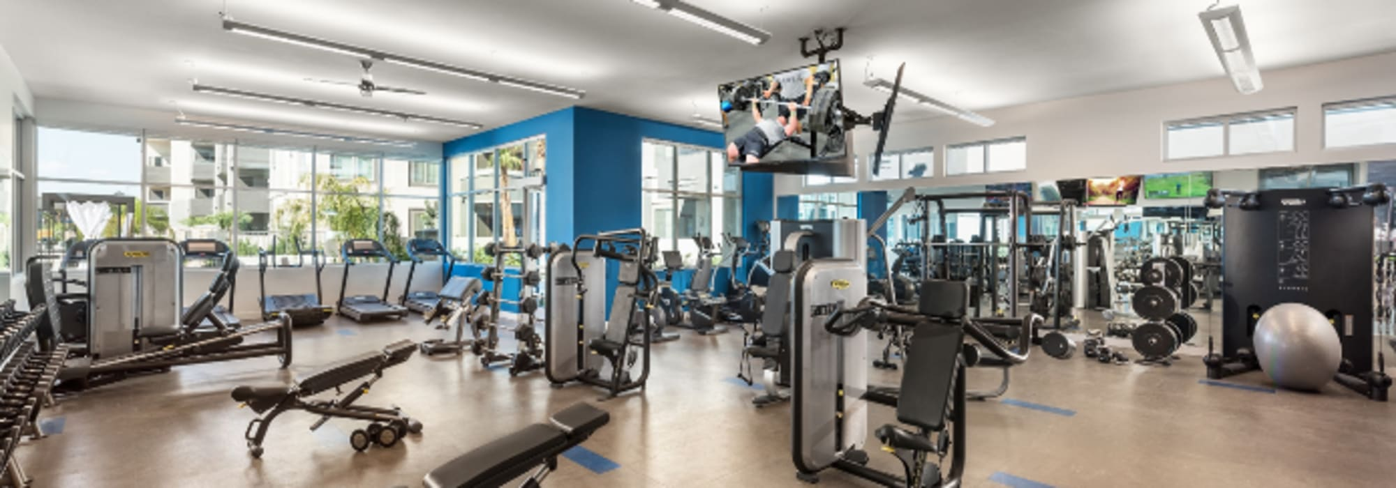 state of the art fitness center at Aviva in Mesa, Arizona