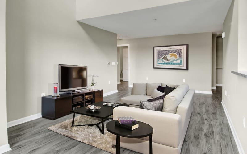 Spacious living room at Bradlee Danvers in Danvers, Massachusetts