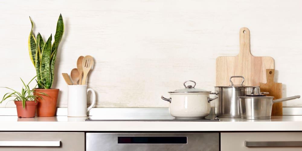 Kitchen essentials at 21 Rio in Austin, Texas