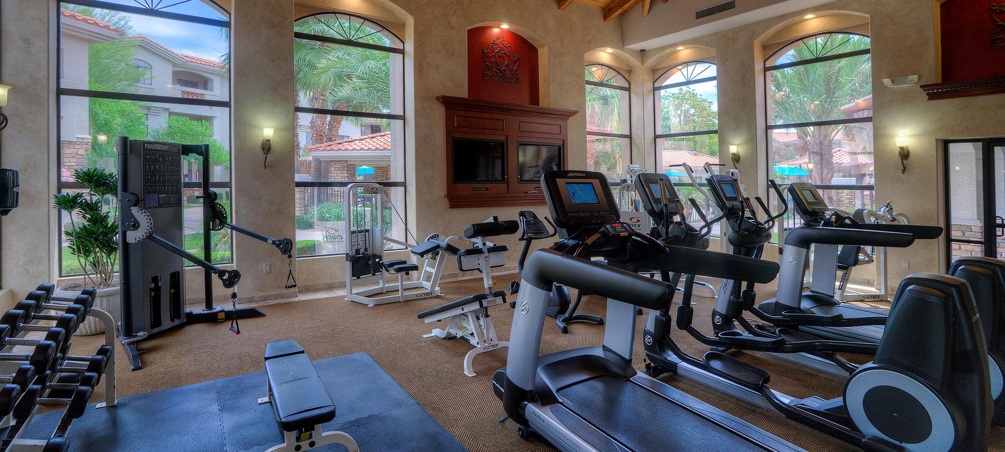 Fitness center at San Hacienda in Chandler, Arizona