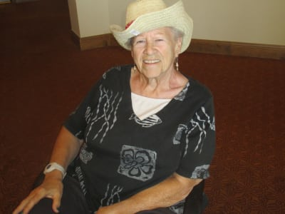 Happy senior woman enjoying activities at Eastern Star Masonic Retirement Campus in Denver, CO