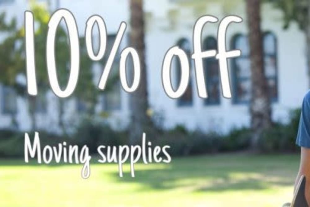 Moving supplies are on sale at Storage Landing in Buda, Texas
