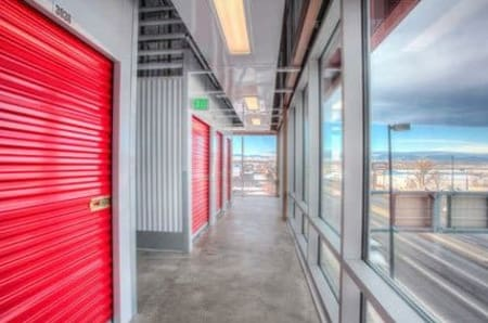 Second level storage units at StorQuest Self Storage in Arvada, Colorado
