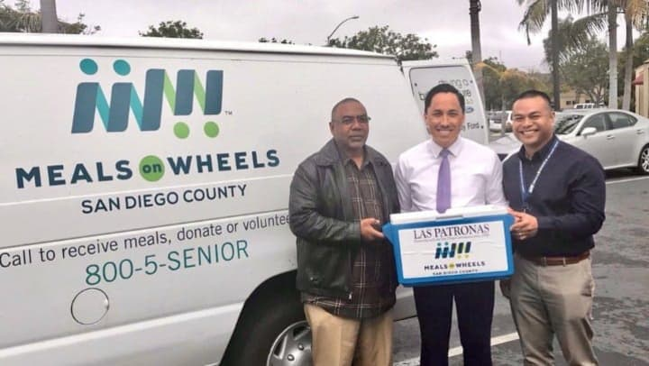 Meals on Wheels in San Diego County delivers meals to 3,200 people annually, including more than 1,400 veterans.