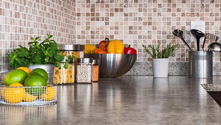 kitchen organization on counter top