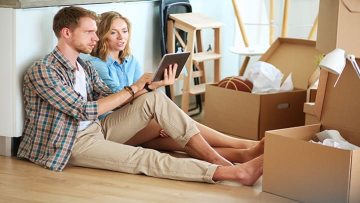 new homeowners looking at to-do list