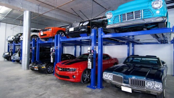 A self storage parking lot full of cars is a familiar sight when owners don