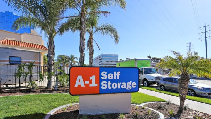 The front sign at A-1 Self Storage is distinctively Southern California.