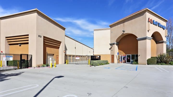 The front office at A-1 Self Storage in Chula Vista, California, greets every visitor as they pass through the entrance gate.