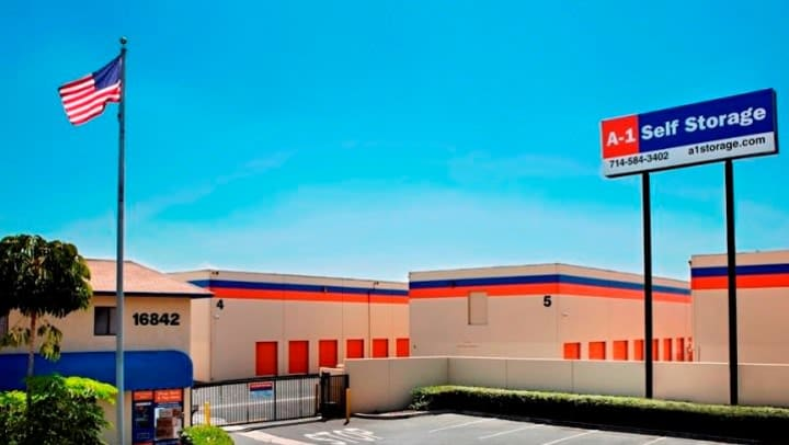 A-1 Self Storage facility in Fountain Valley, CA