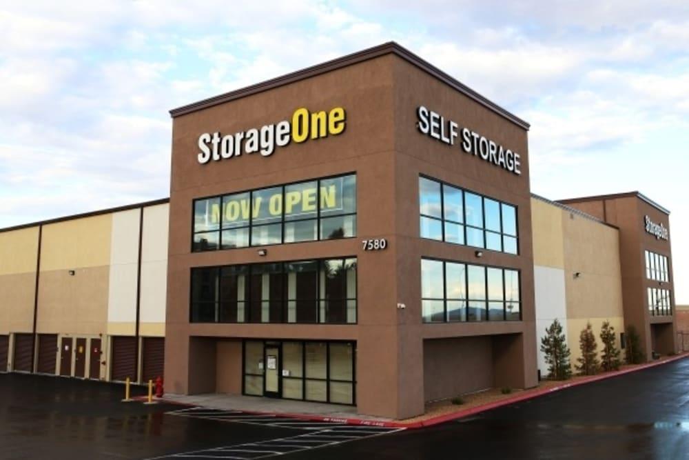 Exterior view of StorageOne Blue Diamond & Decatur in Las Vegas, Nevada