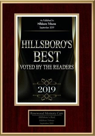 Hillsboro's Best 2019 Rosewood Memory Care