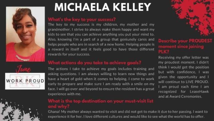 Michaela Kelley award image