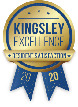 Kensington at Beverly Hills in Southfield, Michigan received a Kingsley Excellence Residents Satisfaction 2020 award